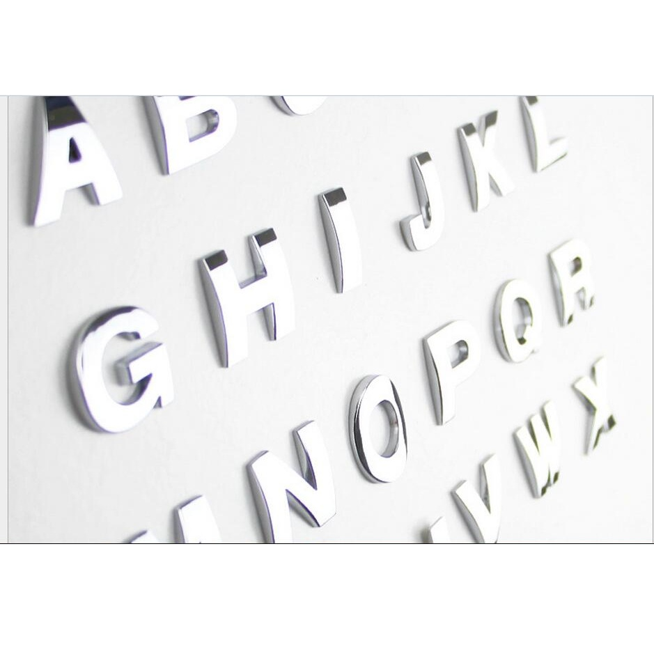 US $3 11 48% OFF|Metal Alloy Zinc DIY Letters Words Number A to Z 0 9 Trunk  Lid Fender Car Automobile Auto Vehicle Badges Emblems Sticker Decals-in
