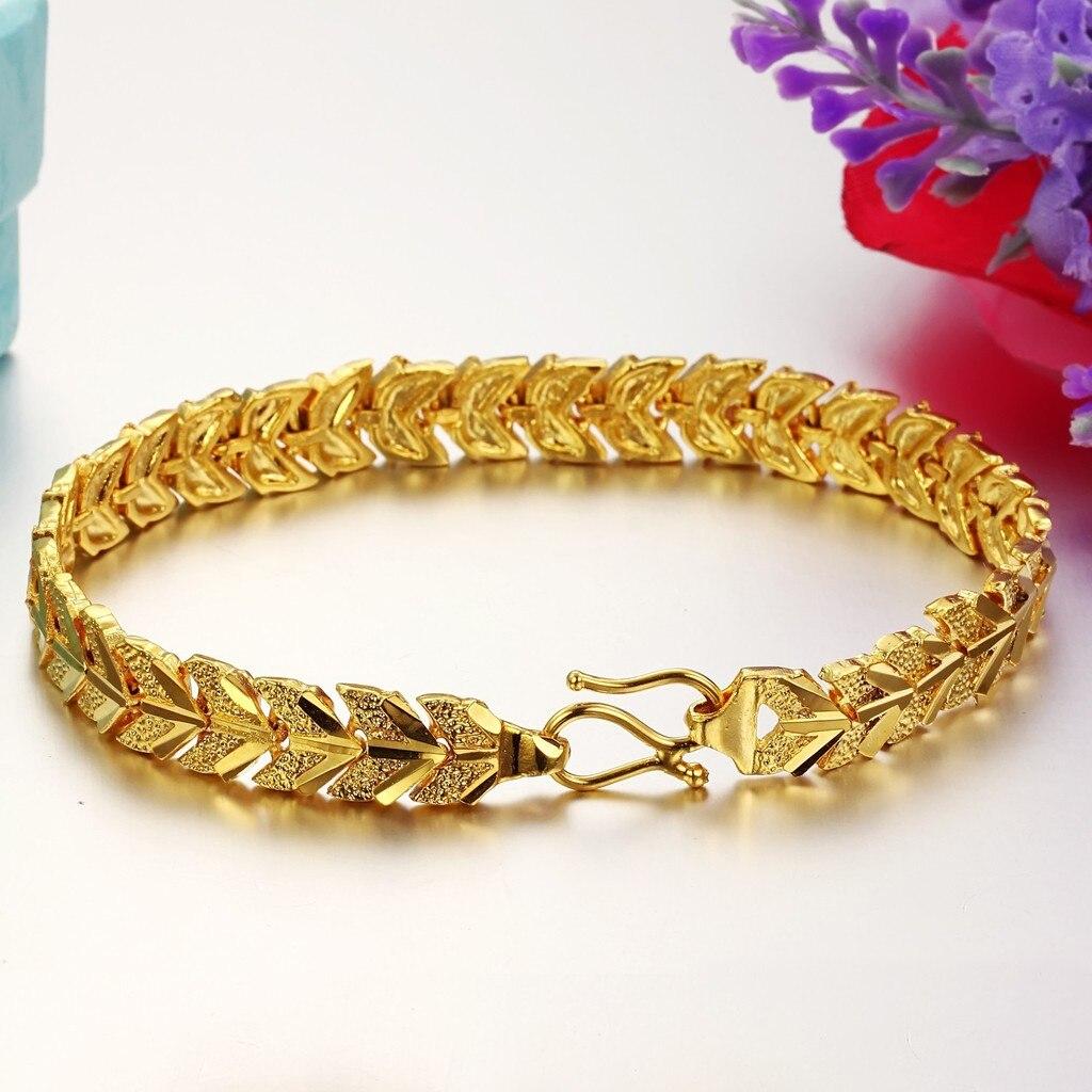 new gold bracelet models 431227-in Charm Bracelets from Jewelry ...