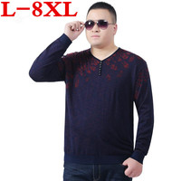 plus size Pullover Men V Neck Sweater Men Long Sleeve Shirt Mens Sweaters Wool Casual Dress Brand Cashmere Knitwear Pull Homme