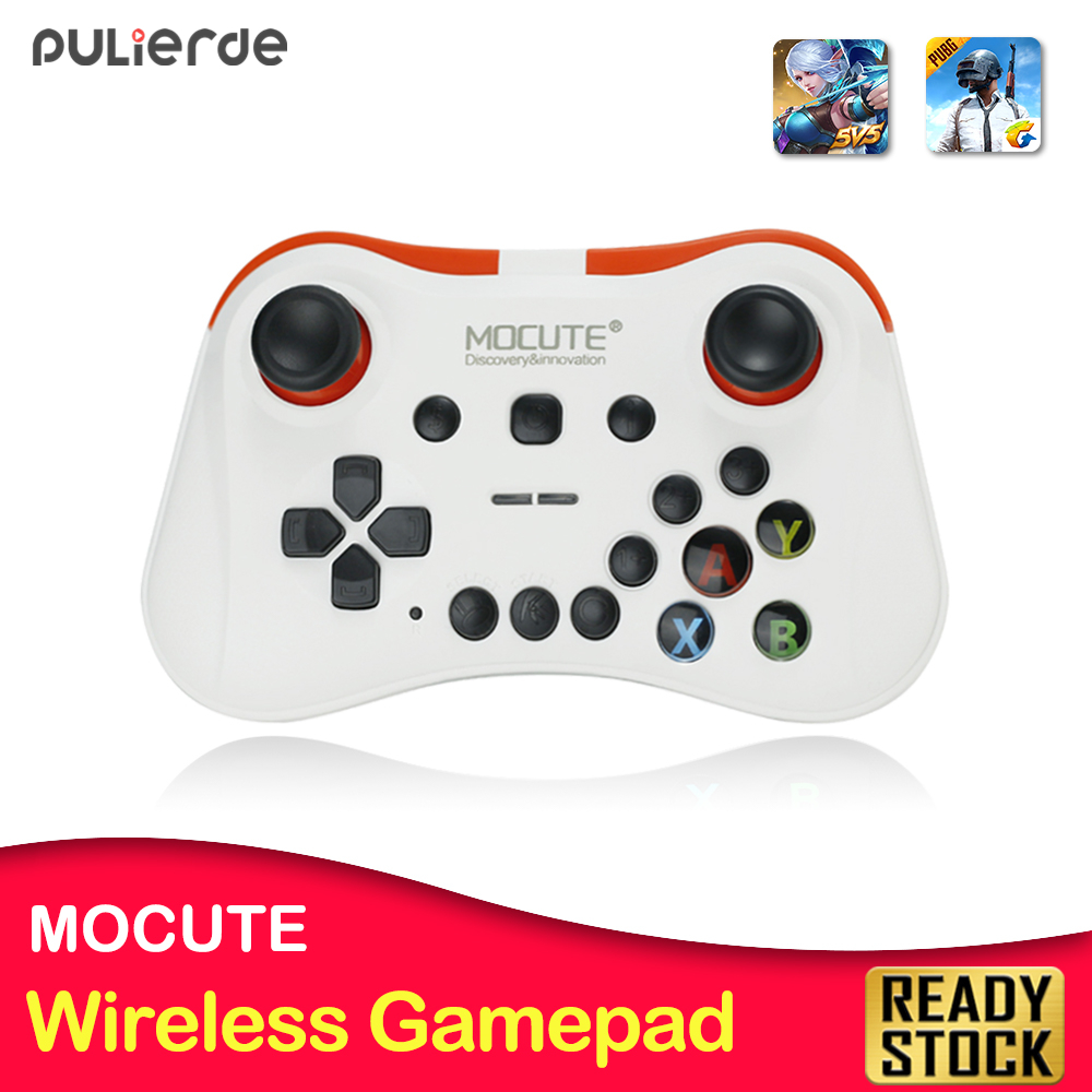 Mocute 056 Bluetooth Gamepad Android Wi-fi Joystick Vr Controller Cellular Joypad For Pubg Smartphone Good Television Field Laptop + Holder