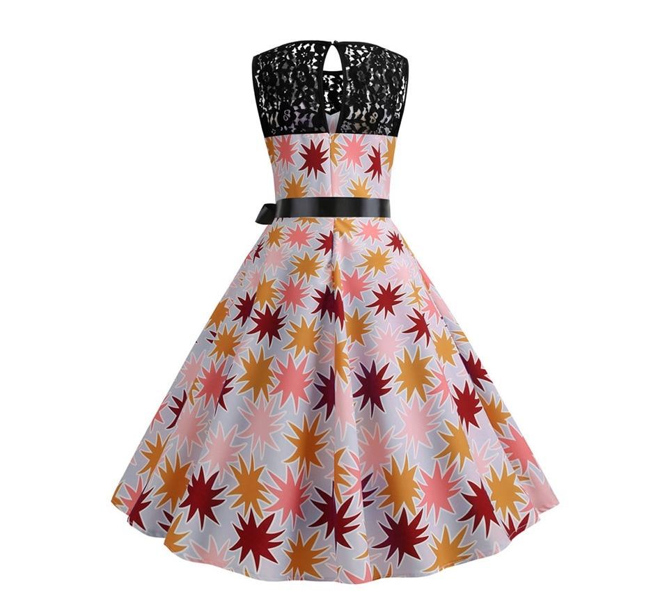 Koktejlové párty šaty jednofarebné s čipkou (10 variánt) 18