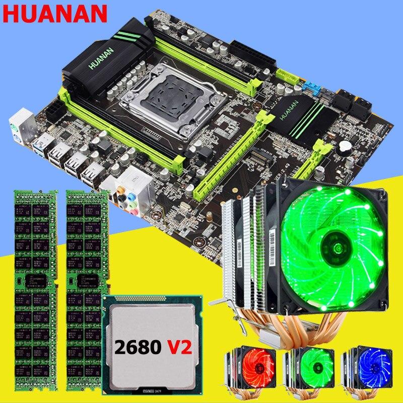 Remise carte mère ensemble flambant neuf HUANAN ZHI X79 carte mère avec M.2 slot CPU Intel Xeon E5 2680 V2 RAM 16G (2*8G) 1600 RECC