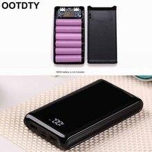 (Geen Batterij) dual Usb Output 6X18650 Batterij Diy Power Bank Box Holder Case Voor Mobiele Telefoon Tablet Pc