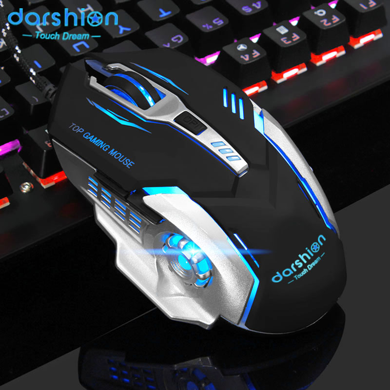 2017 Gaming Mouse Computer Wired Glow Macro Definition Professional Mice 6 Buttons 3200DPI USB Optical  For Laptop Desktop 3