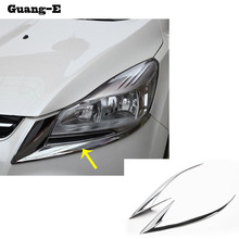 Car body front Light font b lamp b font detector frame stick styling ABS Chrome cover