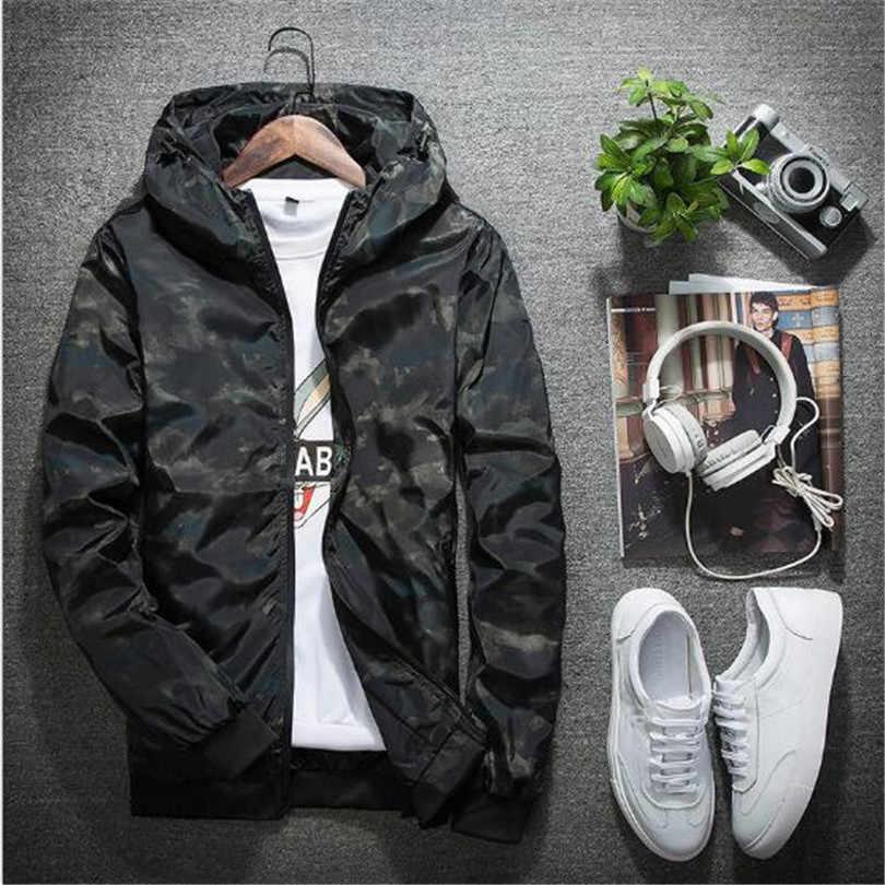 Весенне-осенняя мужская повседневная камуфляжное худи куртка мужская водонепроницаемая одежда Мужская ветровка пальто Мужская Верхняя одежда 4XL