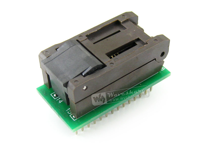 module SO28 SOIC28 SOP28 TO DIP28 (B) FP-28-1.27-07 Enplas IC Programming Adapter Test Burn-in Socket 1.27mm Pitch 7.9mm Width sop8 to dip8 programming adapter socket module black green 150mil