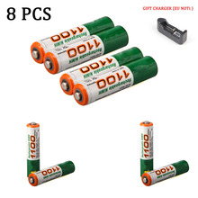 1/2/4/8/lot AAA batteries High Quality 1.2V 1100MAH Lithium-ion rechargeable  flashlight lithium battery New