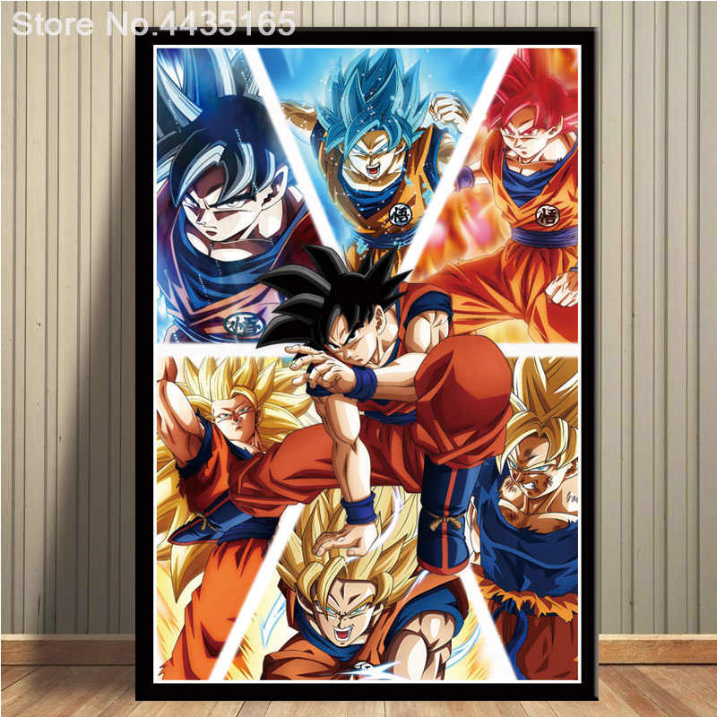 Dragon Ball Z Super Poster Goku Ultra Instinct Mastered Walking Wall Art Picture Posters And Prints Painting For Room Decoration