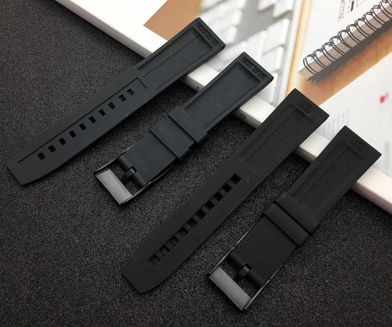 Soft Rubber silicone Watch band 20mm 22mm 24mm Black bird Watchband Bracelet For navitimer/avenger/Breitling strap free tools