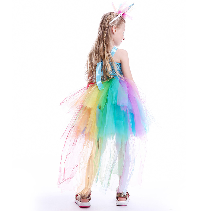 Dresses Flower Girl Unicorn Tutu Dress Fluffy Birthday Cakesmash Dress With Hair Hoop Kids Pony Wedding Cosplay Halloween Costume Making Things Convenient For The People Girls' Clothing