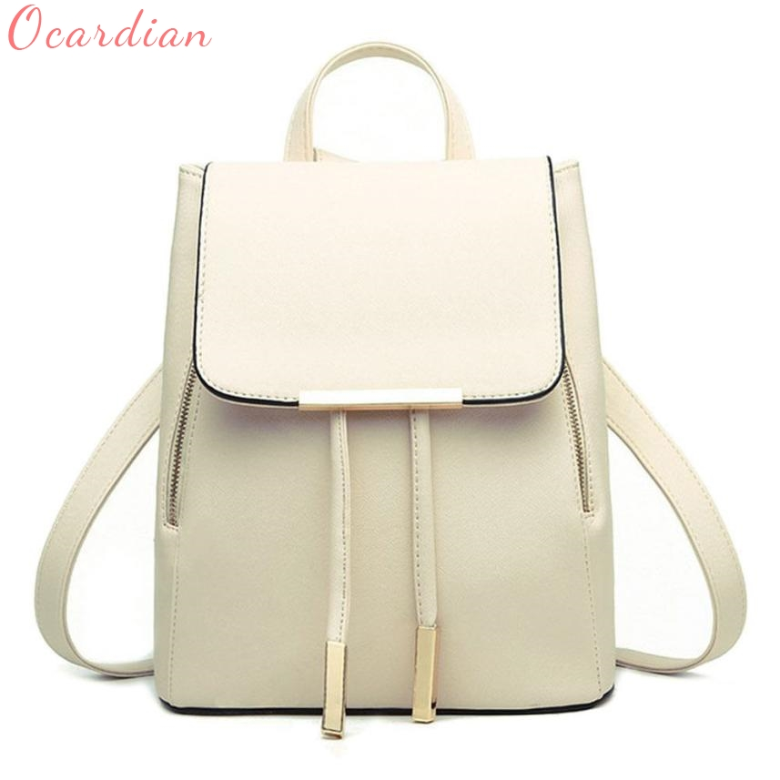 2017 Women Backpack High Quality PU Leather School Bags For Teenagers Girls Top-handle Backpacks Herald Fashion Oct26 fashion women backpack pu leather mochila escolar school bags for teenagers girls top handle backpacks leisure bag feminine