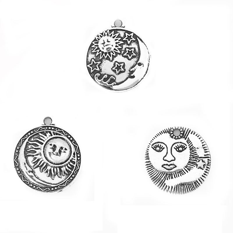 top 10 most popular sun and moon face pendant charm ideas and get