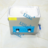 ERIKC diesel fuel injector ultrasonic cleaning machine E1024015, auto cleaning equipment ultrasonic cleaner 110V, 6L