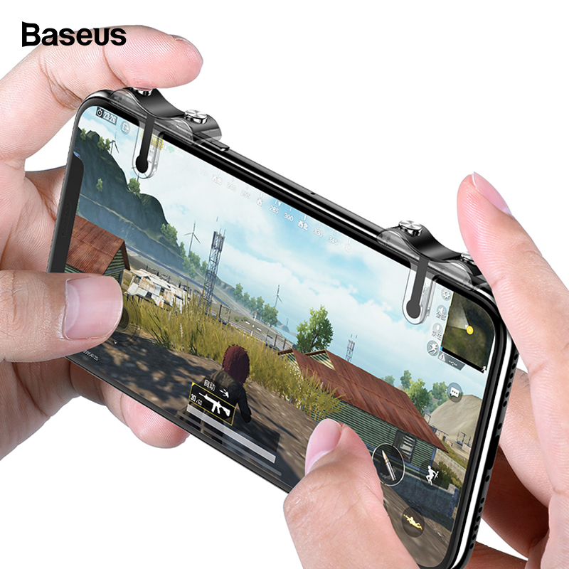 Baseus For PUBG Mobile Gamepad Joystick L1 R1 Mobile Phone Game Shooter Controller Trigger Fire Button Handle for iPhone Android