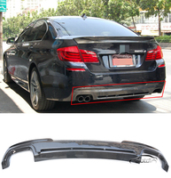F10 H Style Car Styling Top Quality Real Carbon Fiber Rear Bumper Lip Diffuser for BMW F10 M TECH M SPORT