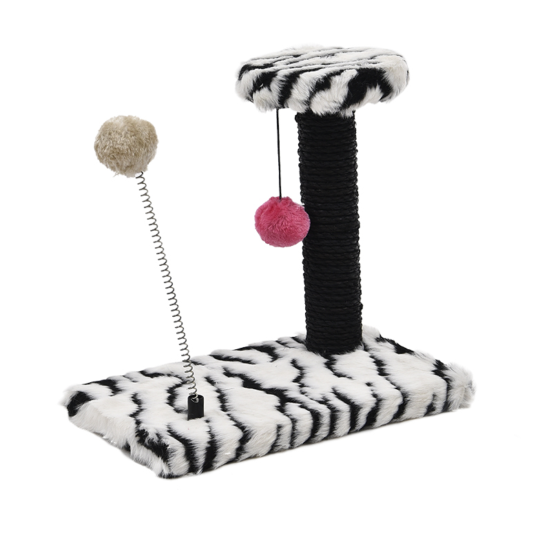 Cat Toys Scratching New Arrival Cat Post Wood Climbing Tree Cat Jumping Standing Frame Cat Furniture Crazy Hanging Spring Balls