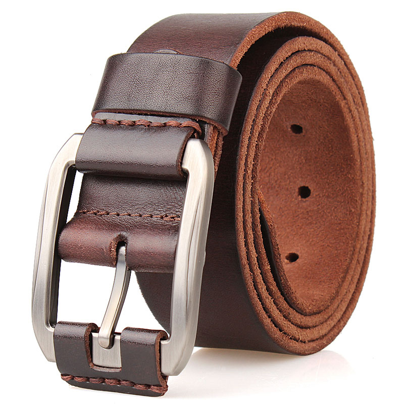 designer   belt   men high quality luxury 100%real cowhide grain genuine leather vintage 3.8cm masculine plus big size soft   belt   140