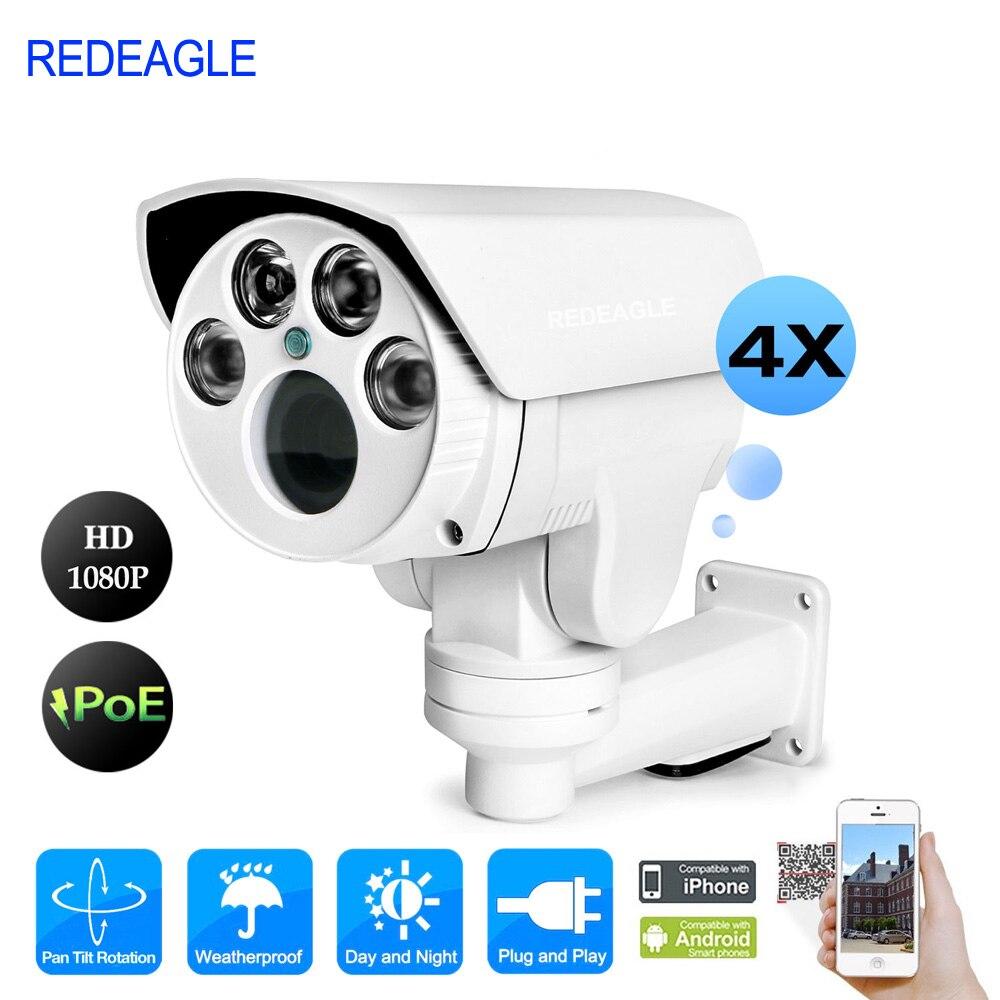 REDEAGLE Full HD 1080P PTZ IP Camera font b Outdoor b font 2MP POE Network Camera