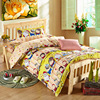 Children Cartoon Bedding Set 100 CottonComfortable Three Pieces Single Bed Duvet Cover Bed Sheet Pillow Case