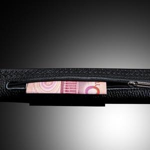Image 5 - Ifendei 隠しポケットマネーベルト分泌 100% 牛革ベルト男性の高級ファッション自動バックルジッパー ceinture