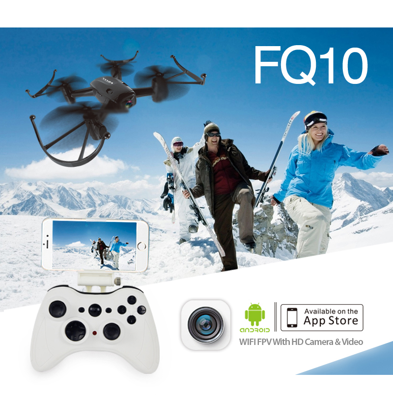 FQ777 FQ10 WiFi Drone with 720P Camera RTF 6-axis Gyro RC Quadcopter 2.4GHz Mini Pocket Drone Dron FPV RC Helicopter F18047 jjr c jjrc h43wh h43 selfie elfie wifi fpv with hd camera altitude hold headless mode foldable arm rc quadcopter drone h37 mini