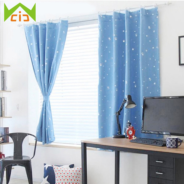 Us 13 1 25 Off Wcic Polyester Curtains Stars Blackout Curtain Window Treatments Kids Nursery Bedrooms Decoration Living Room Roman Cortinas In