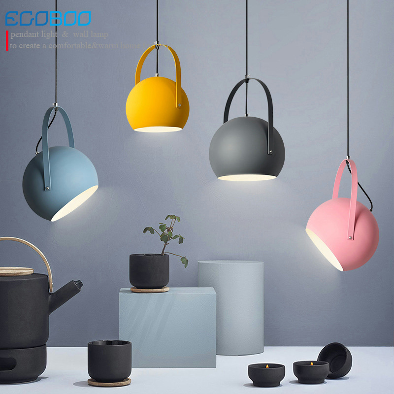Modern LED Pendant Lights Multicolour Dining-room Restaurant Round Pendant Lamps electric Wire Home Decration Lighting fixtures modern led pendant lights ring suspension for dining room pendant lamps home decoration brighter light fixtures round 60cm
