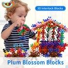 400 Pcs New Plastic Plum Blossom Building Blocks Interlocking Bricks Kids Educational Toys for Children Creativity Intelligence