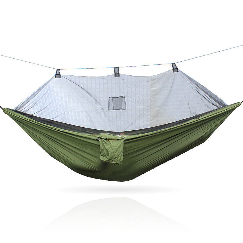 Image 3 - Portable 300 * 140 260 * 140 cm size garden swing, camping bed, anti mosquito hammock. There are various colors to choose from-in Hammocks from Furniture
