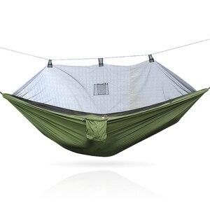 Image 3 - Tragbare 300*140 260*140 cm größe garten schaukel, camping bett, anti moskito hängematte. Es sind verschiedene farben zu wählen aus