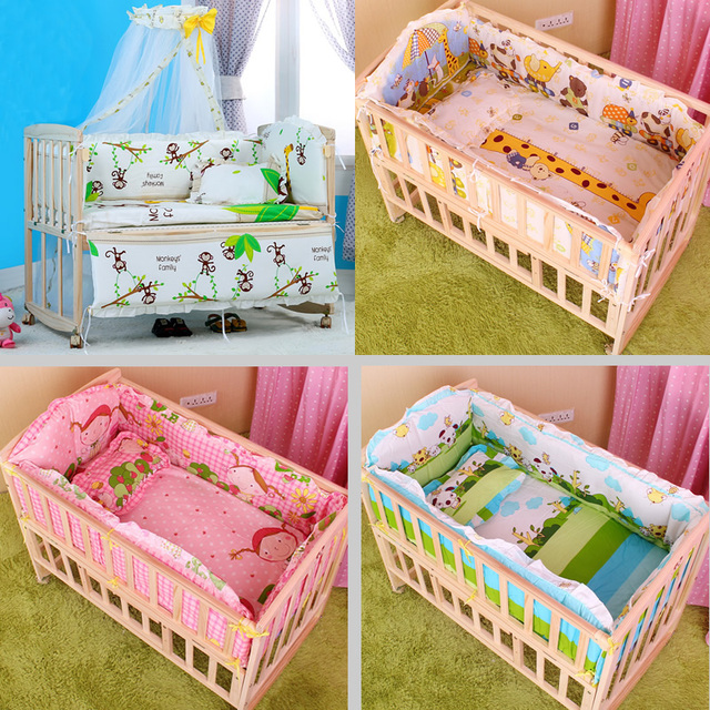 5PCS set baby crib bedding set cartoon baby bedding set newborn baby bed set crib bumper baby bed bumper 100x58cm CP01