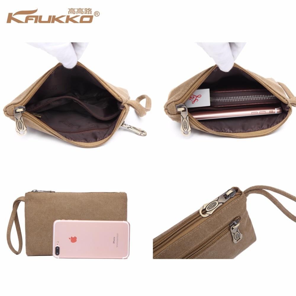 Original KAUKKO lærred læder mænd rejse tasker transportere tasker - Håndtasker - Foto 6