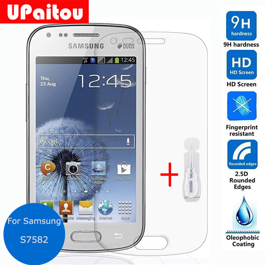 UPaitou Tempered Glass Screen Protector For Samsung GALAXY S Duos 2 S7582 2.5 9h Safety Protective Film on GT-S7582
