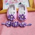 Цветочница малыша повязка на голову, Цветочница балеток, Крещение девушка новорожденный обувь, Обувь девушка, Алмаз детские ботинки