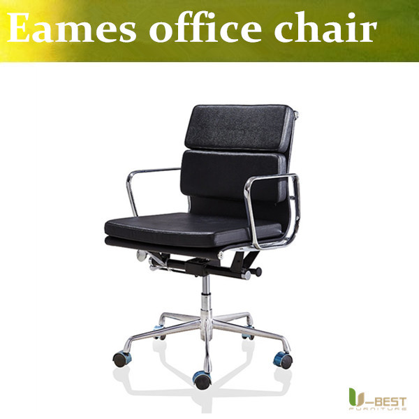 U-BEST Emes Aluminum Group Style Management Low Back  Soft Pad office Chair,designer swivel office furniture  in leather