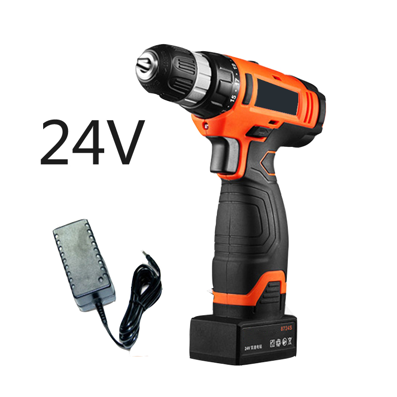 цена на 24V Mini electric drill Hand battery Drill Electric cordless drill  Screwdriver with lithium battery power tool set