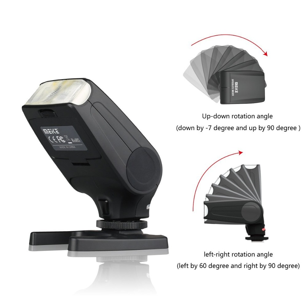New Mini Flash Speedlite MEIKE MK320 TTL flash for Canon EOS  5DII 6D 7D 40D 50D 60D 70D 550D 600D 650D 700D 580EX 430EX Cameras-in Flashes from Consumer Electronics    1