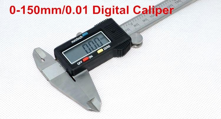 Free shipping 0-150mm/0.01 digital caliper vernier calipers micrometer paquimetro stadiometer pie de rey digital hot caliper  цены