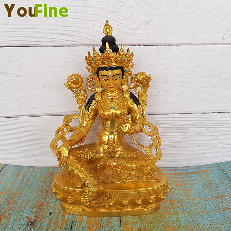 Bronze Tibetan Buddhism Buddhist supplies professional manufacturer supports custom made offerings in Statues Sculptures from Home Garden