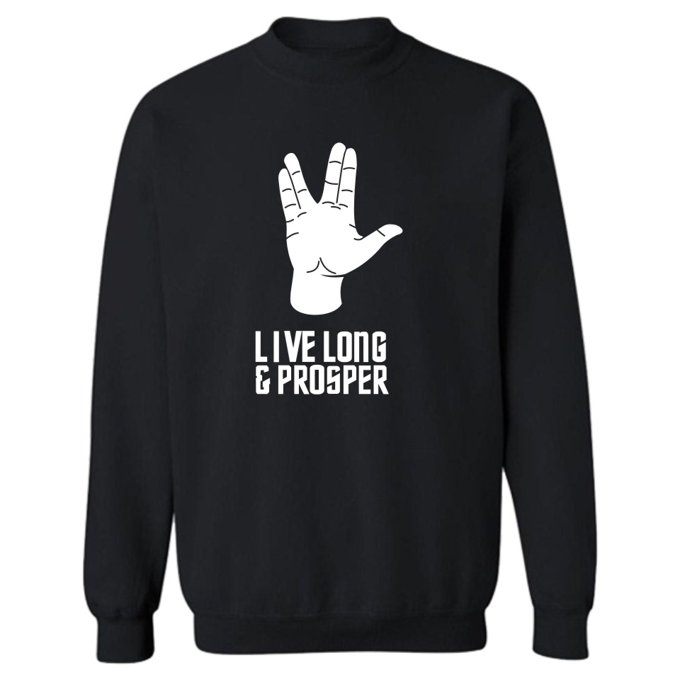New Brand Sweatshirt Hoodies Fashion Star Trek Print Sweatshirt Men Hip Hop In Winter Warm Spock Live Long And Prosper 4XL
