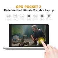 GPD 7Pocket 2 Inch Aluminum Shell Mini Laptop UMPC Windows 10 System CPU M3 7y30 8GB/128GB ( Silvery) IPS Touchscreen tablet pc