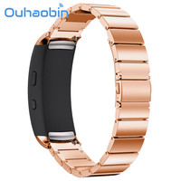 Ouhaobin 170-206mm Genuine Stainless Steel Bracelet Smart Watch Band Strap For Samsung Gear Fit 2 SM-R360 Gift Oct 12 Dropship