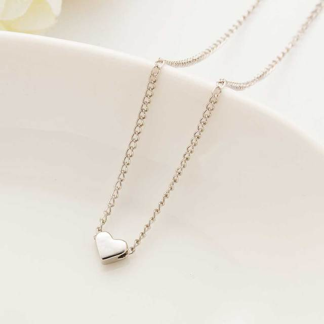 2016 New Hot Trendy Tiny Heart Short Pendant Necklace Women Gold Plated Chain Lover Lady Girl Gifts Bijoux Fashion Jewelry