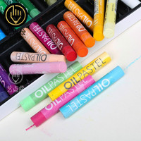Free Shipping Hot Selling Medium Number Crude Oil Painting Sticks Soft Crayons Children Graffiti Brush 24
