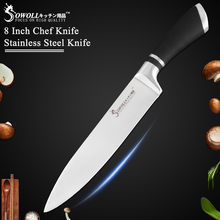 Sowoll Kitchen Knives 8 inch Chef Knife Japanese Popular Stainless Steel Knives with Bread Slicing Santoku Utility Paring knife(China)