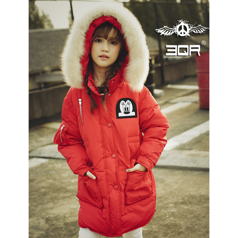 2017 Girls Winter Down Jackets Long Warm Thick Coats Outdoor Windproof Jackets Hooded Parkas Kids Outerwear With Real Fur winter jacket for girls kids hooded parkas long thick children warm coats autumn down jackets toddler girls snowsuits outerwear