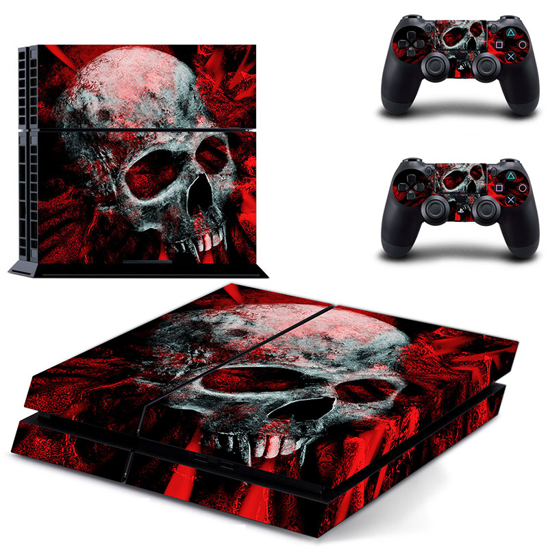 Video Game Accessories Vampire Skull 2 Video Games & Consoles Sony Ps4 Playstation 4 Pro Skin Sticker Screen Protector Set