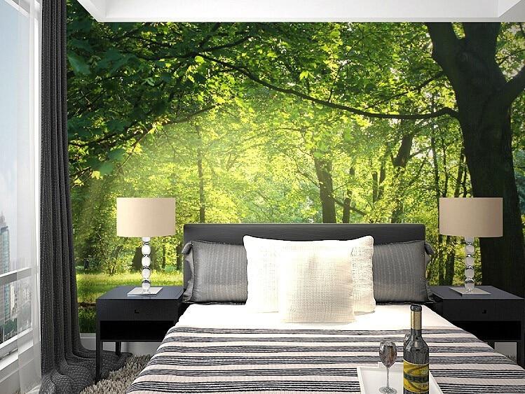 beibehang 3d wallpaper Idyllic natural scenery flowers living room ...