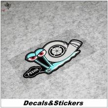Não. l326 caracol dos desenhos animados turbina 3m reflexivo modificado adesivos decalques à prova dwaterproof água carro de corrida motocicleta arranhões cobrir